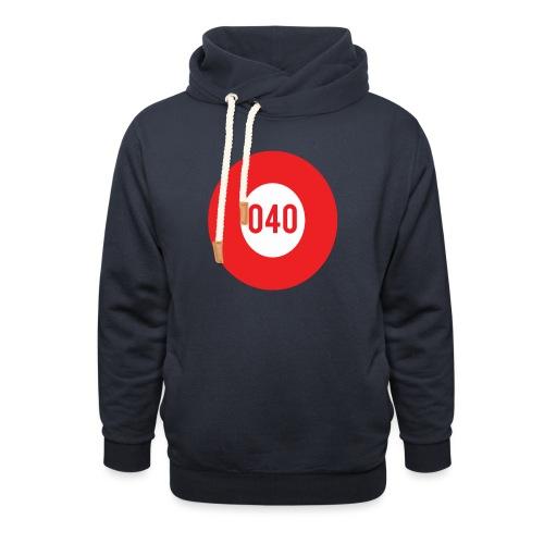 040 logo - Unisex sjaalkraag hoodie