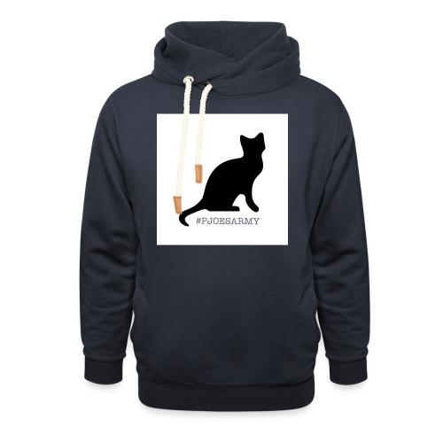 #pjoesarmy met poes - Unisex sjaalkraag hoodie