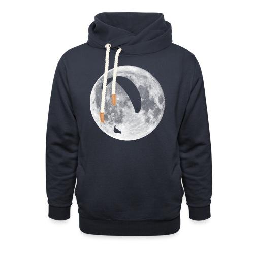 Paragleiter im Mond - Schalkragen Hoodie