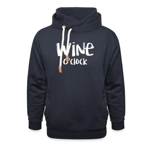 Wine o'clock - Unisex sjaalkraag hoodie