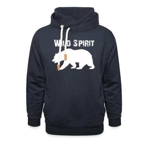 Wild Spirit - Bear - Unisex sjaalkraag hoodie