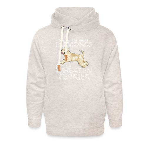 Wheaten Terrier Diamonds 4 - Unisex Shawl Collar Hoodie