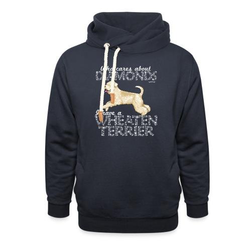 Wheaten Terrier Diamonds 4 - Shawl Collar Hoodie