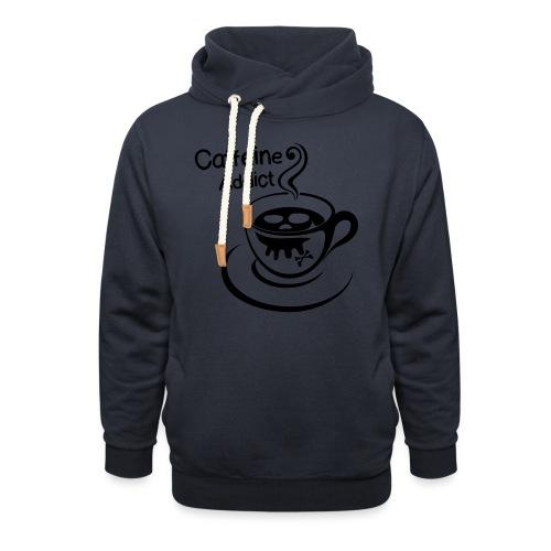 Caffeine Addict - Sjaalkraag hoodie