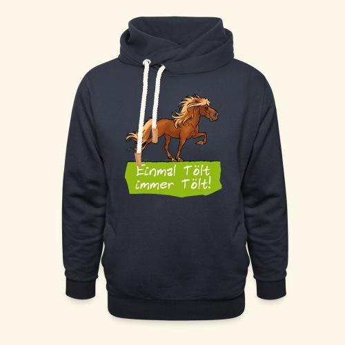 Island Pferd Tölt - Sweat à capuche cache-cou
