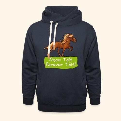 Icelandic horse tölt - Sweat à capuche cache-cou