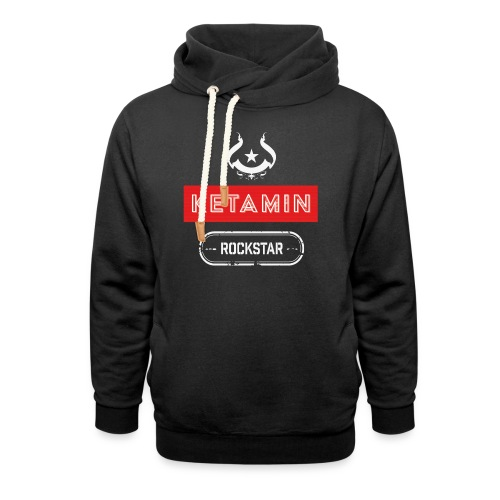 KETAMIN Rock Star - Weiß/Rot - Modern - Shawl Collar Hoodie
