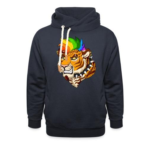Punk Tiger - Bluza z szalowym kołnierzem