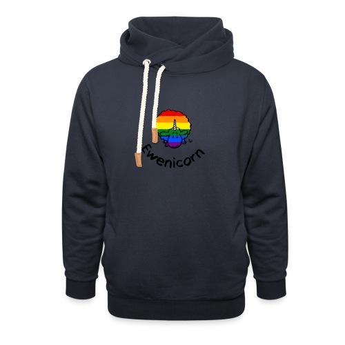 Rainbow Ewenicorn - c'est une brebis licorne! (texte) - Sweat à capuche cache-cou
