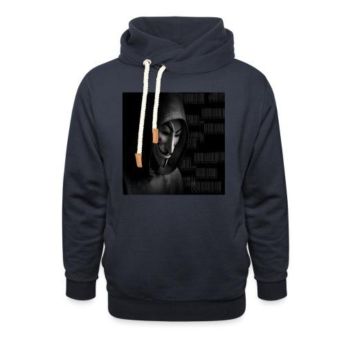 Anonymous_Barcode - Sudadera con capucha y cuello alto
