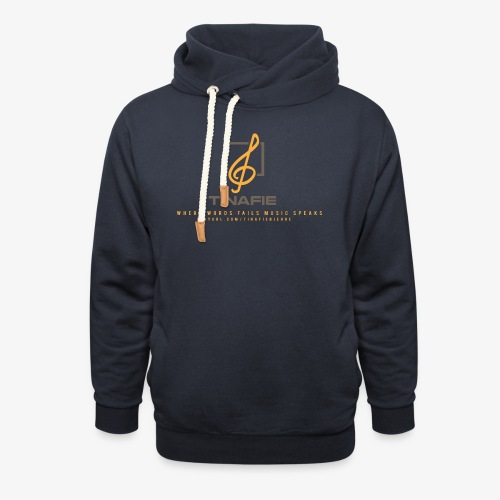 Where Words fails Music speaks!!! - Unisex hoodie med sjalskrave