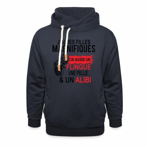 J'AI DEUX FILLES MAGNIFIQUES Best t-shirts 25% - Sweat à capuche cache-cou unisexe