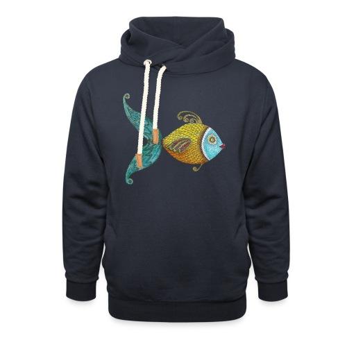 Le poisson d'Annie - Sweat à capuche cache-cou