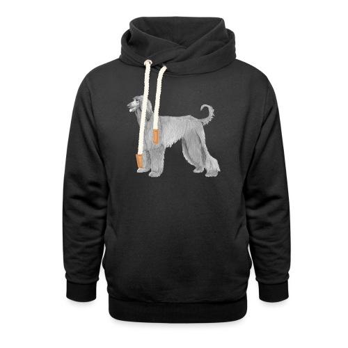 afghanskMynde - Unisex hoodie med sjalskrave