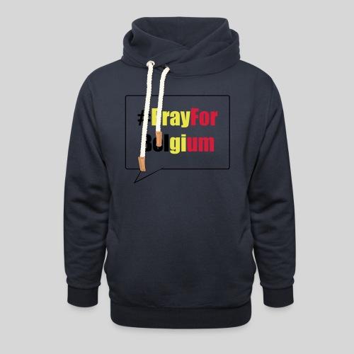 #PrayForBelgium - Sweat à capuche cache-cou unisexe