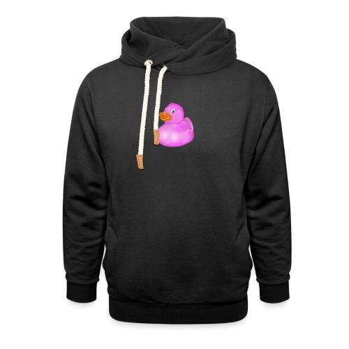 Rose bathing duck - Unisex Shawl Collar Hoodie