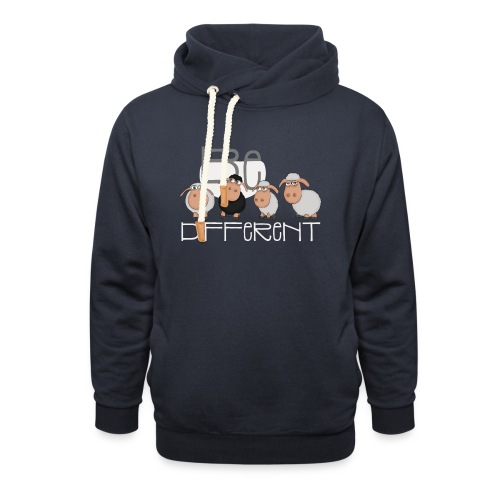 Coole Be different Schafe Gang - Gute Laune Schaf - Schalkragen Hoodie