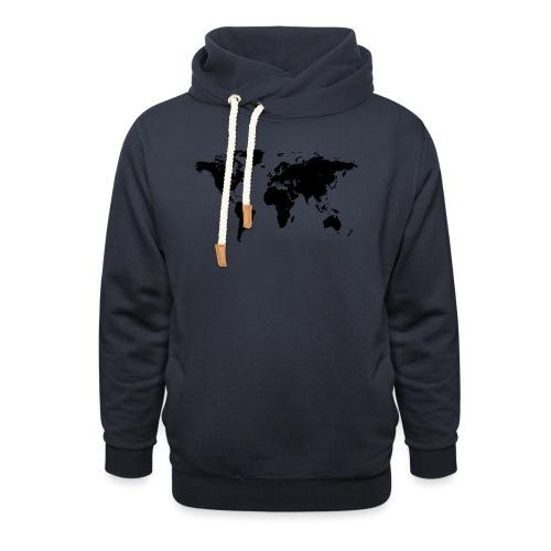 World Map - Schalkragen Hoodie