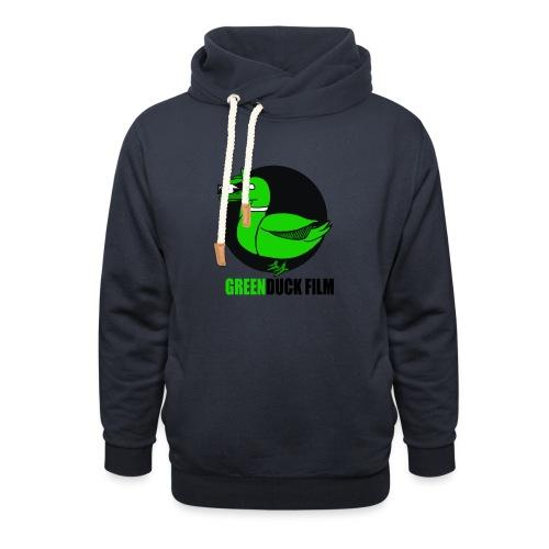 Greenduck Film Logo w. black letters - Unisex hoodie med sjalskrave