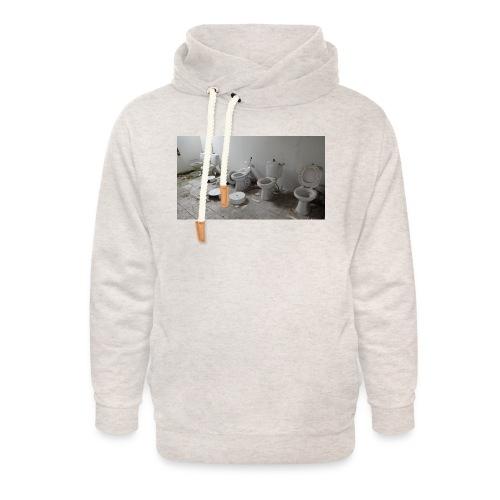 Toilets - Unisex hoodie med sjalskrave