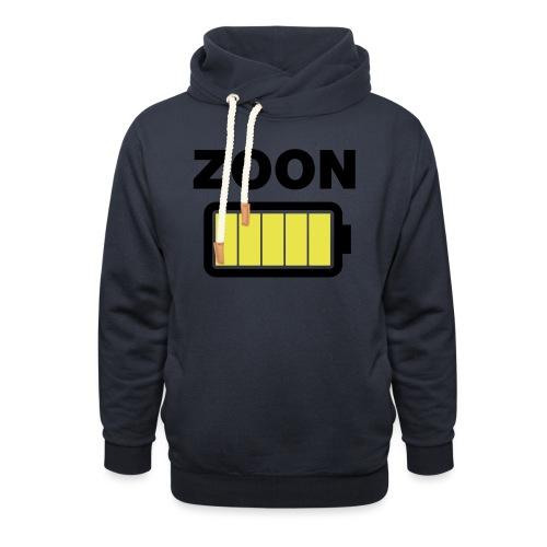 Batterij zoon vol - Sjaalkraag hoodie