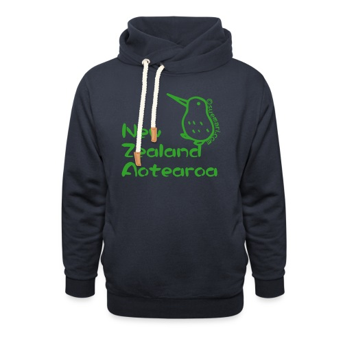 New Zealand Aotearoa - Shawl Collar Hoodie