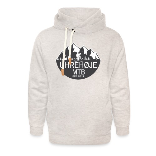 UhreHøje MTB - Unisex hoodie med sjalskrave