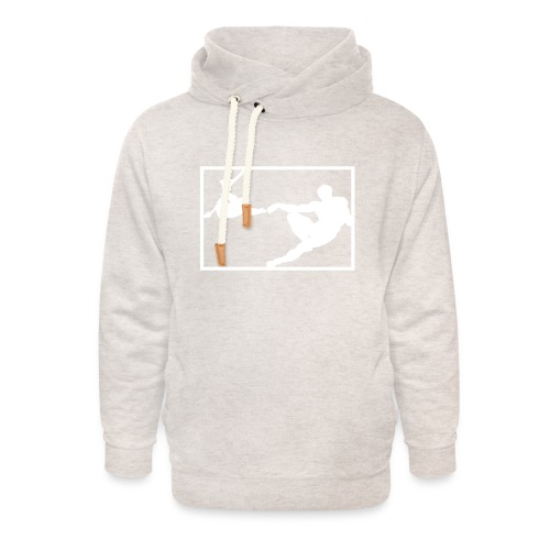 How the monkey created the human - Unisex Shawl Collar Hoodie
