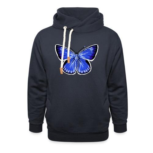 vlinder2_d - Sjaalkraag hoodie