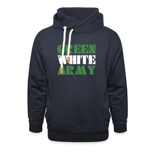 GREEN & WHITE ARMY - Unisex Shawl Collar Hoodie