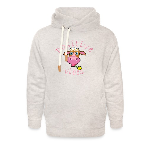 positive cow pink - Felpa con colletto alto unisex