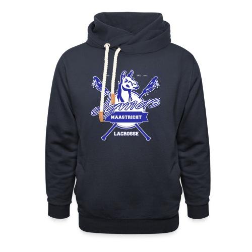 Llamas - Maastricht Lacrosse - Blauw - Sjaalkraag hoodie