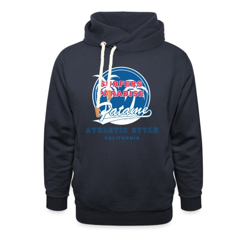Surfers Paradise Athletic Blue - Schalkragen Hoodie