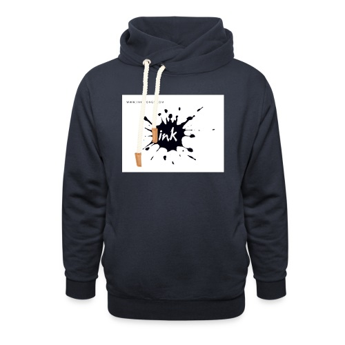 Ink Logo and website - Unisex Shawl Collar Hoodie
