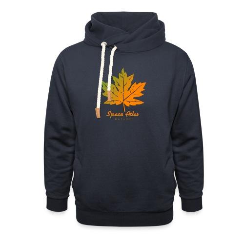 Space Atlas Long Sleeve T-shirt Autumn Leaves - Hoodie med sjalskrave