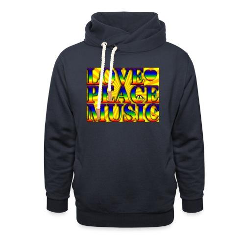 Love Peace and Music - Unisex Shawl Collar Hoodie