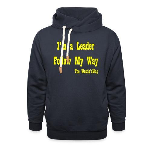 Follow My Way Yellow - Bluza z szalowym kołnierzem