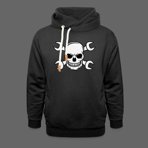 MEKKER SKULL - Unisex hoodie med sjalskrave