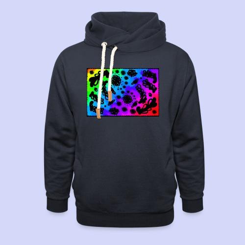 Rainbow doodle - Female shirt - Unisex hoodie med sjalskrave