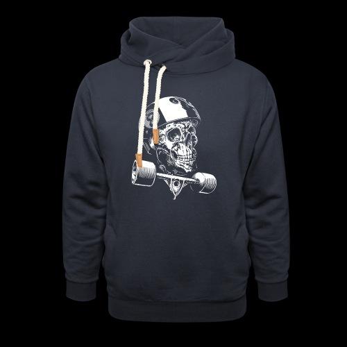 Skull Longboard Rider - negative print - Sweat à capuche cache-cou unisexe