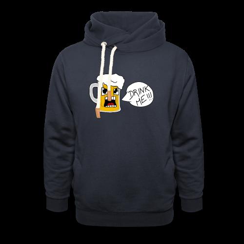 Bière - Sweat à capuche cache-cou