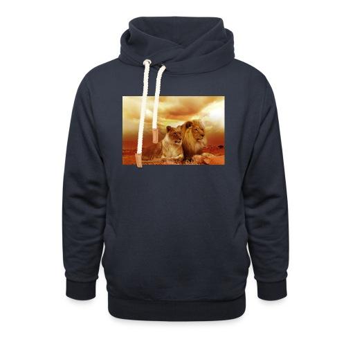 Löwen Lions - Unisex Schalkragen Hoodie