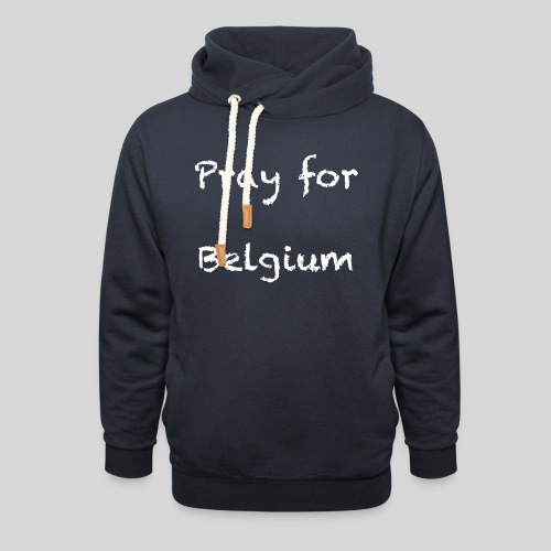 Pray for Belgium - Sweat à capuche cache-cou