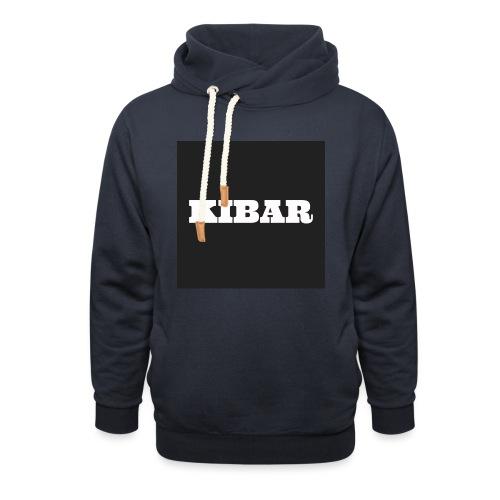 KIBAR - Hoodie med sjalskrave