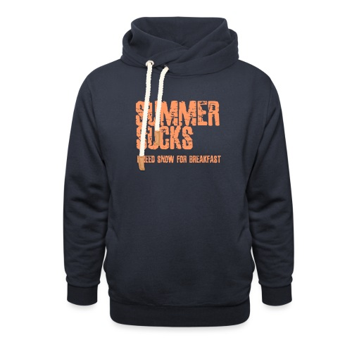 SUMMER SUCKS - Unisex sjaalkraag hoodie