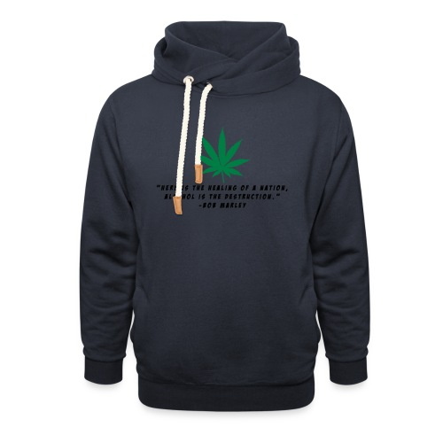Cannabis - Schalkragen Hoodie