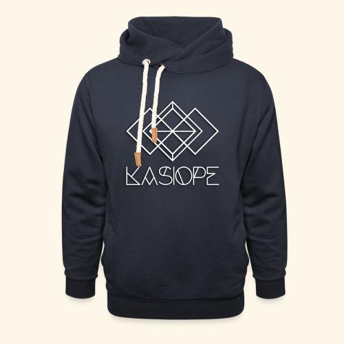 Logo Kasiope blanc - Sweat à capuche cache-cou unisexe