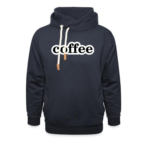 Kaffee - Schalkragen Hoodie