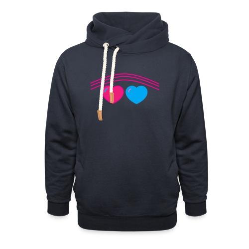 Das Design mit Herz - Schalkragen Hoodie