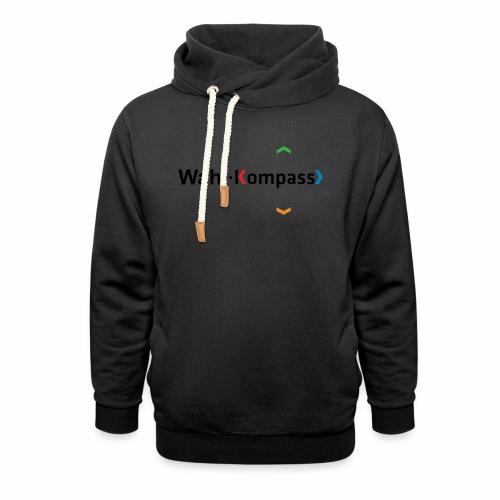 Wahl-Kompass Logo schwarz - Schalkragen Hoodie